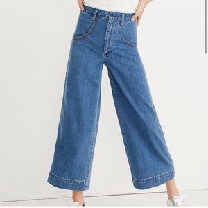 MADEWELL • Wide Leg Crop Rainbow Jeans Sz 27